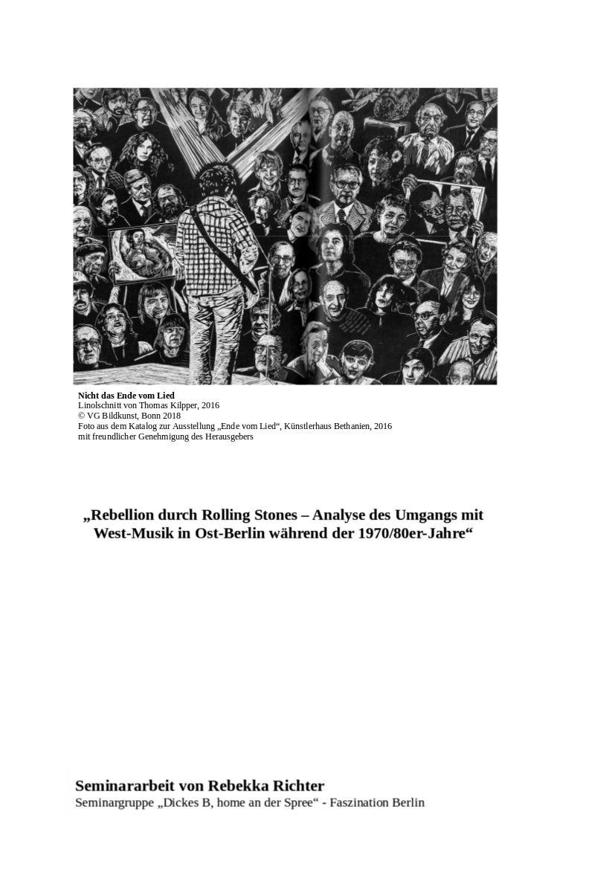 Deckblatt Seminararbeit Rebekka Richter