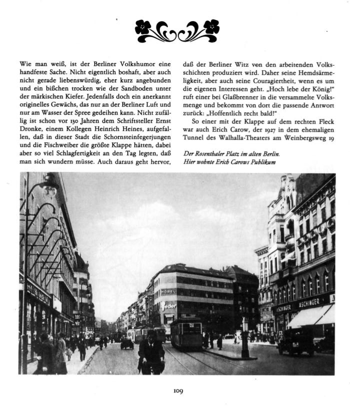 Der Rosenthaler Platz im alten Berlin